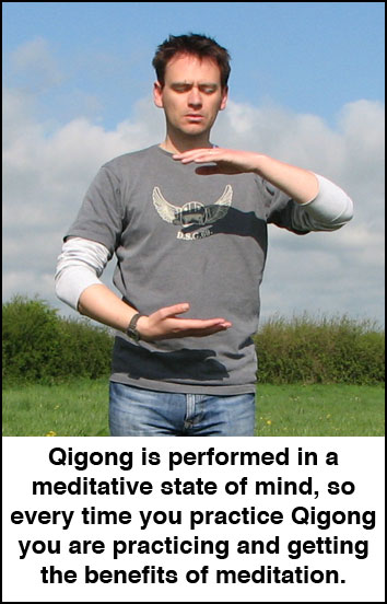 Qigong is performed in a meditative state of mind that helps to increase resistance to stress